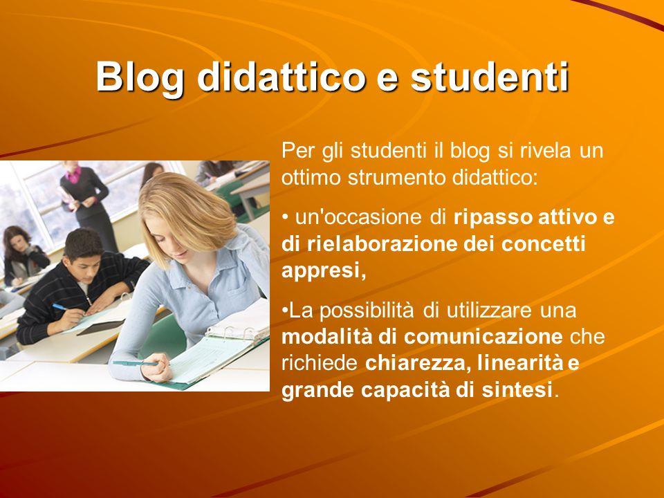 Blog didattico e studenti