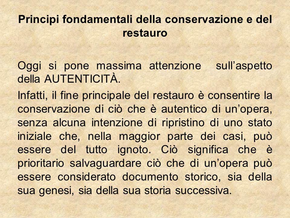 Principi fondamentali della conservazione e del restauro
