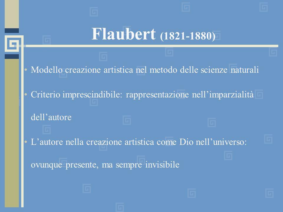 Flaubert (1821-1880) Modello creazione artistica nel metodo delle scienze naturali.