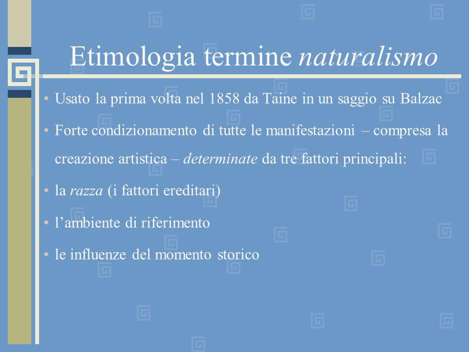 Etimologia termine naturalismo