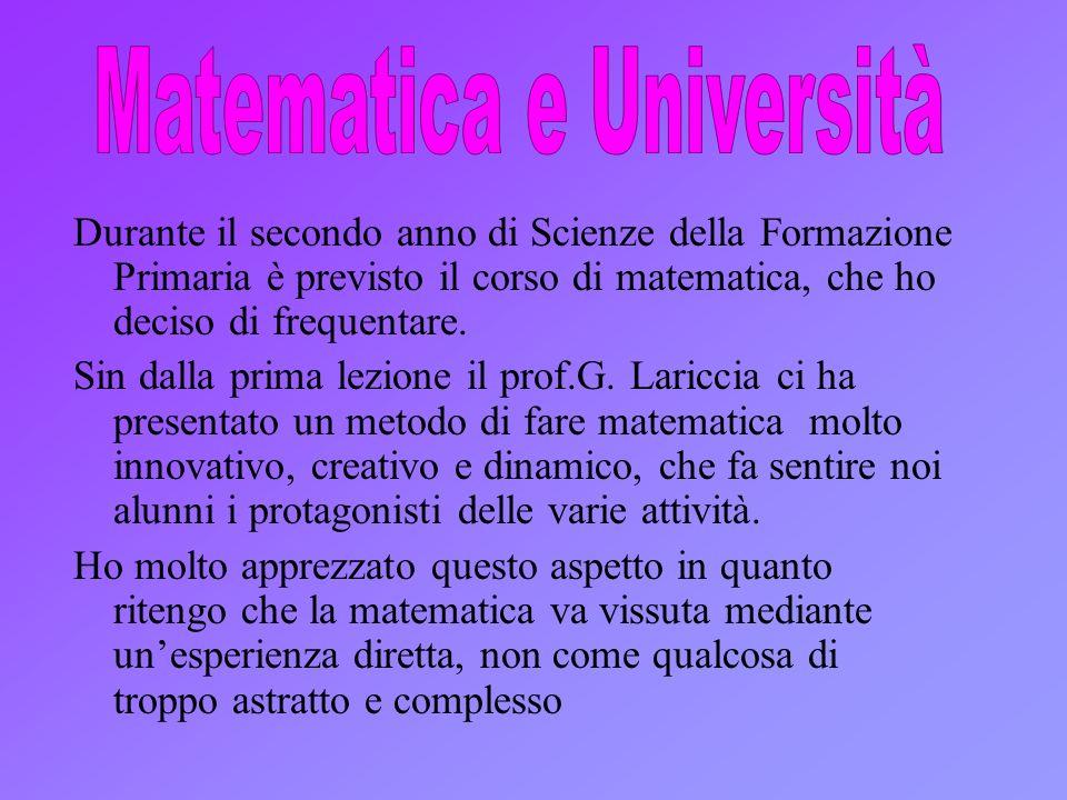 Matematica e Università