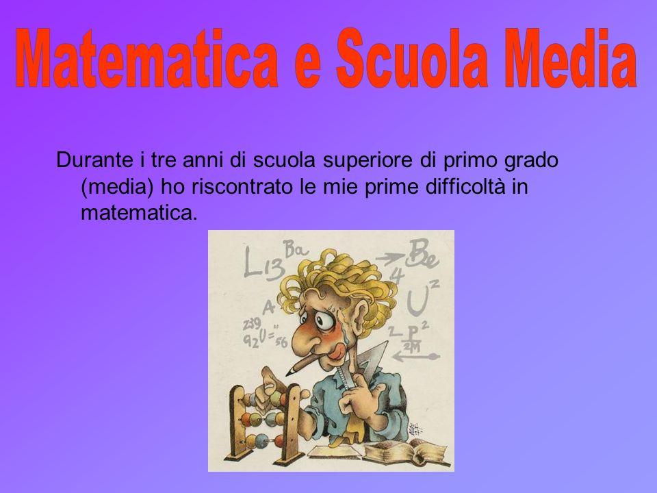 Matematica e Scuola Media