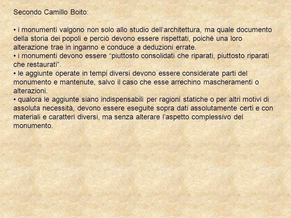 Secondo Camillo Boito: