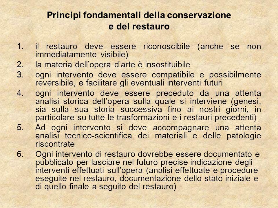 Principi fondamentali della conservazione