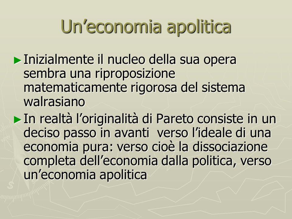 Un'economia apolitica