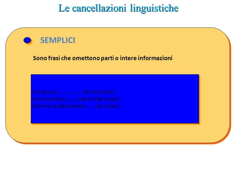 Le cancellazioni linguistiche