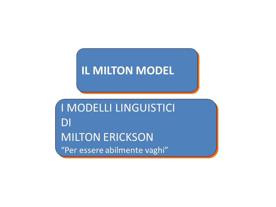 IL MILTON MODEL I MODELLI LINGUISTICI DI MILTON ERICKSON