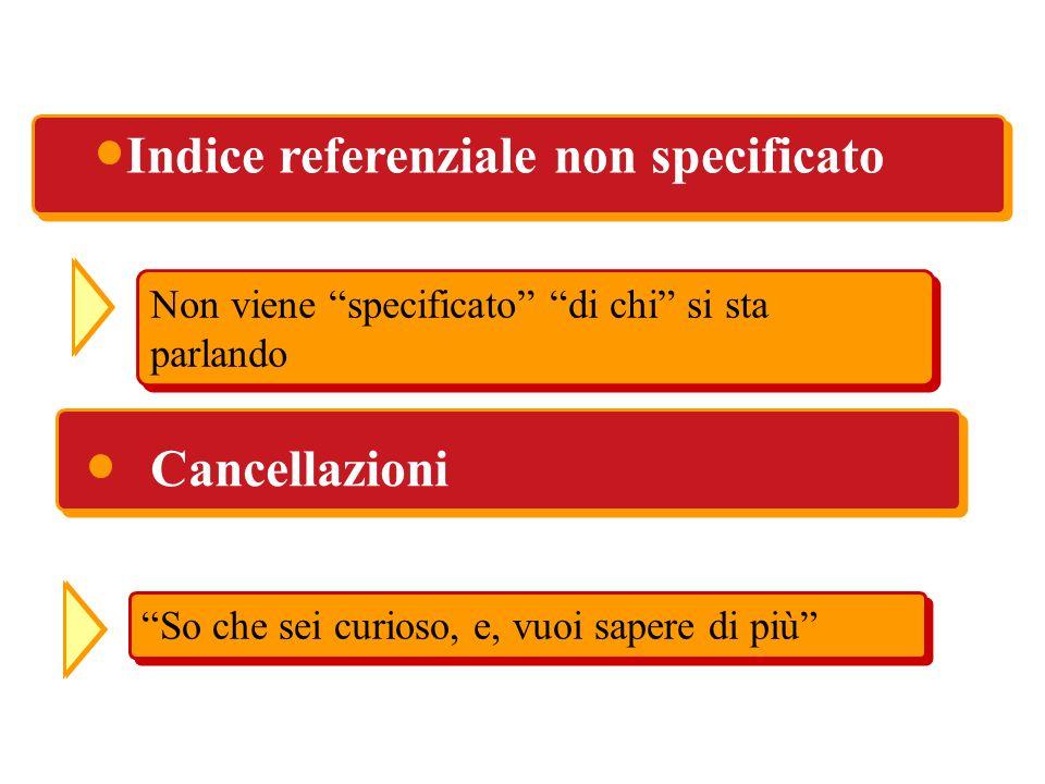 Indice referenziale non specificato