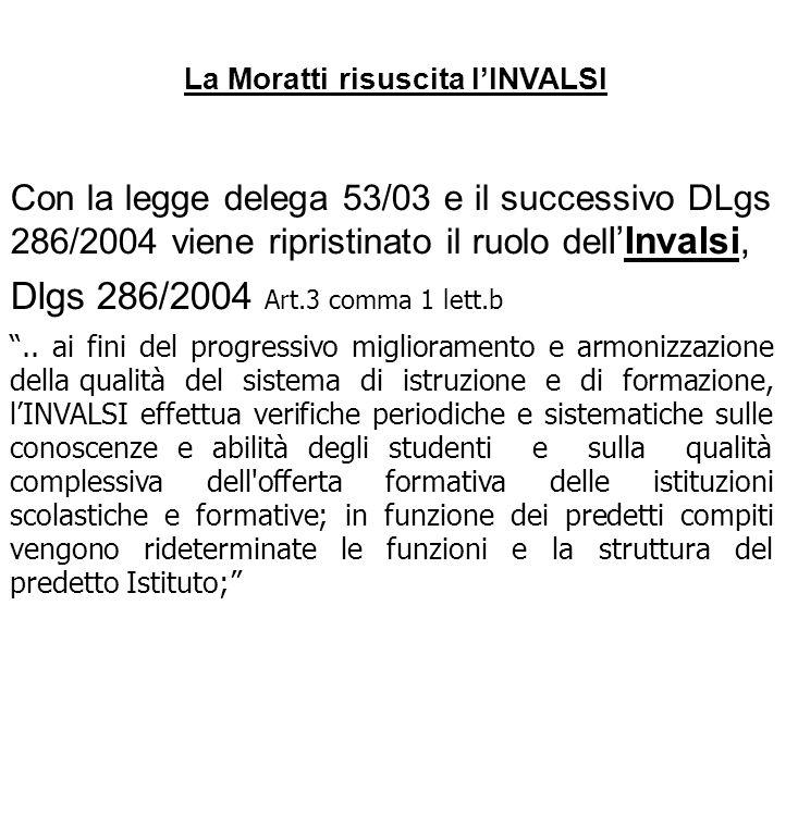 La Moratti risuscita l'INVALSI