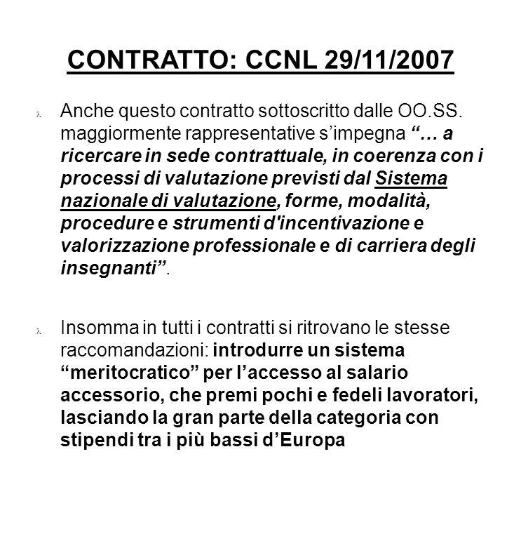 CONTRATTO: CCNL 29/11/2007