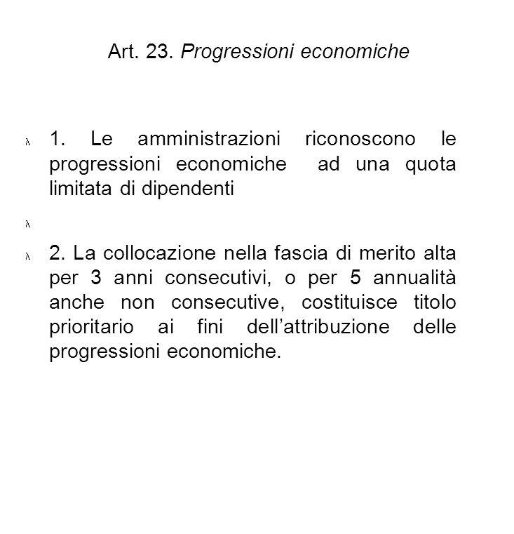 Art. 23. Progressioni economiche