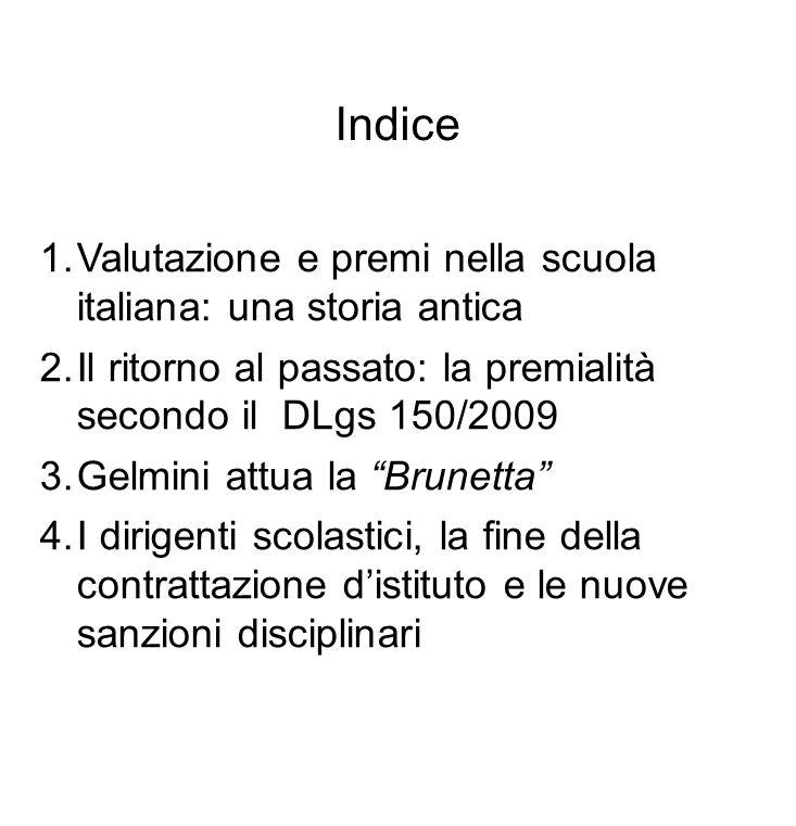 Indice Valutazione e premi nella scuola italiana: una storia antica