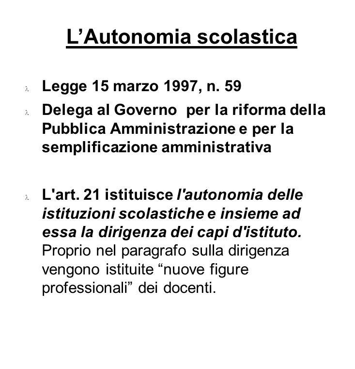 L'Autonomia scolastica