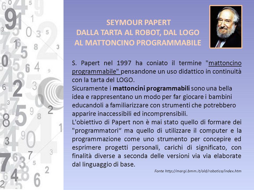 DALLA TARTA AL ROBOT, DAL LOGO AL MATTONCINO PROGRAMMABILE
