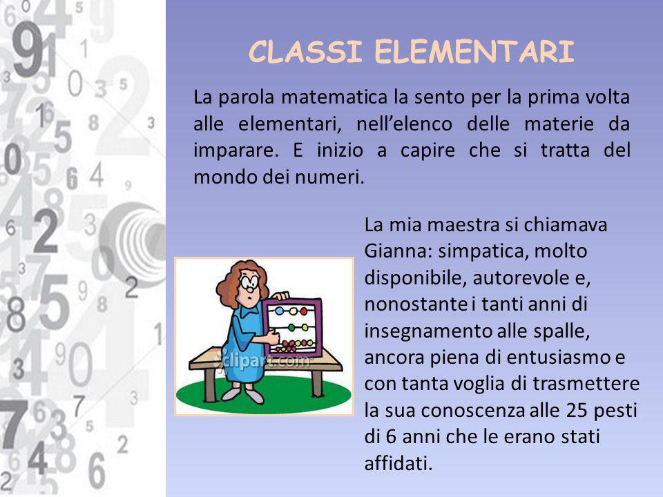 CLASSI ELEMENTARI