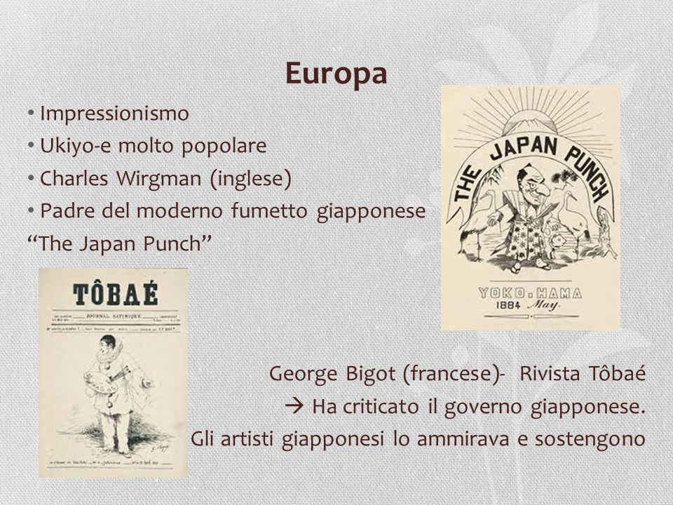 Europa Impressionismo Ukiyo-e molto popolare Charles Wirgman (inglese)