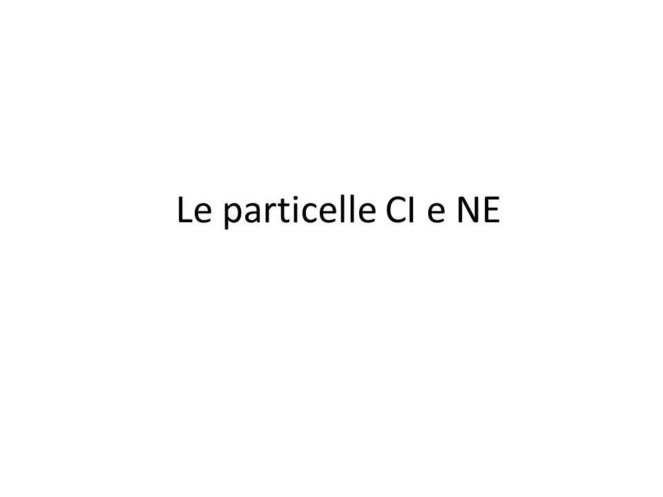 Le particelle CI e NE