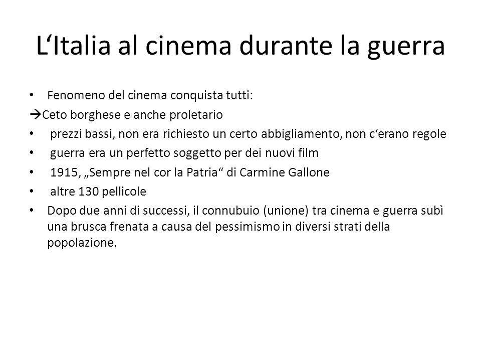 L'Italia al cinema durante la guerra