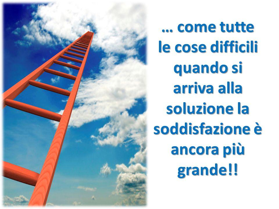 … come tutte le cose difficili quando si arriva alla soluzione la soddisfazione è ancora più grande!!