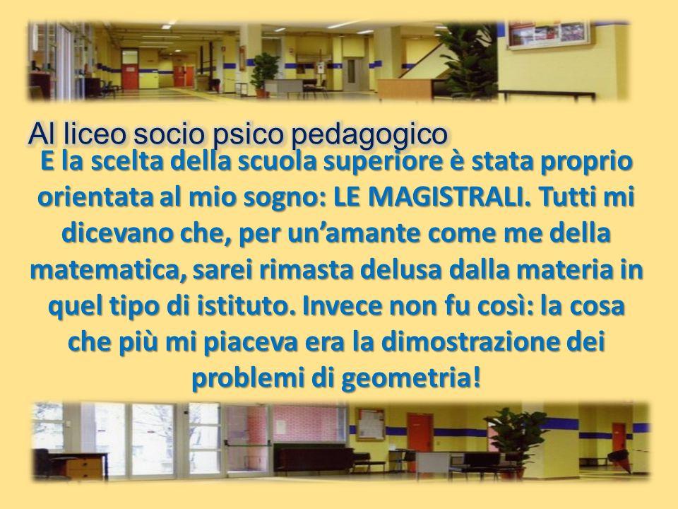 Al liceo socio psico pedagogico