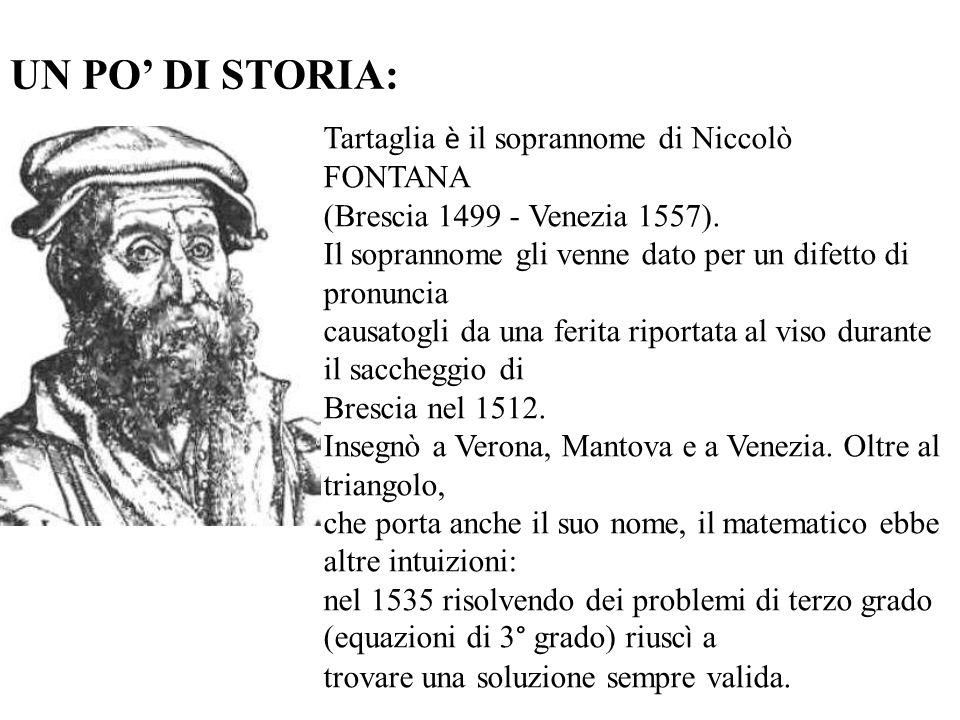 UN PO' DI STORIA: Tartaglia è il soprannome di Niccolò FONTANA