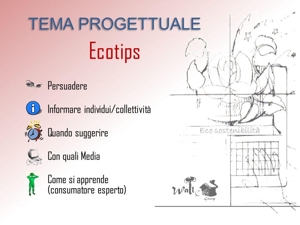 Ecotips TEMA PROGETTUALE Persuadere Informare individui/collettività