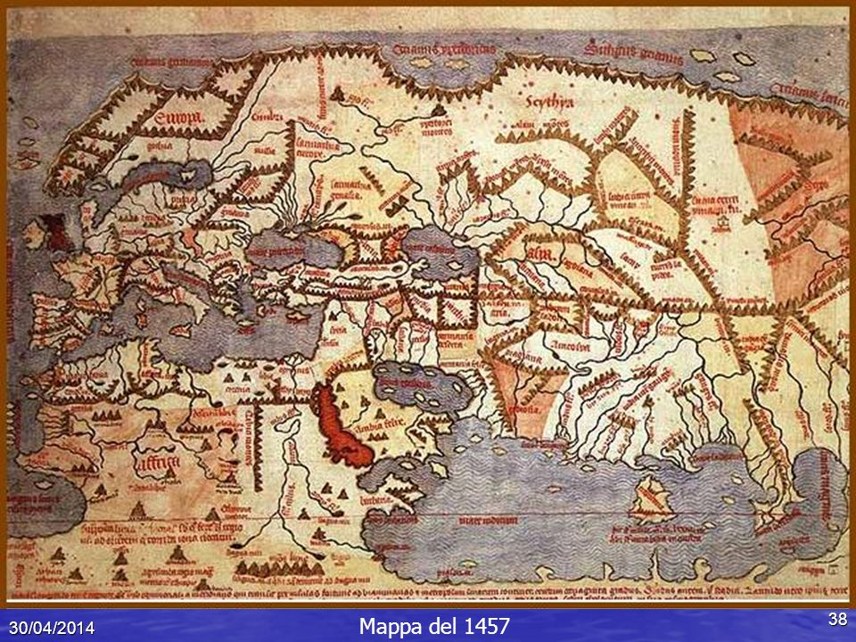 Mappa del XIV secolo 29/03/2017 Mappa del 1457