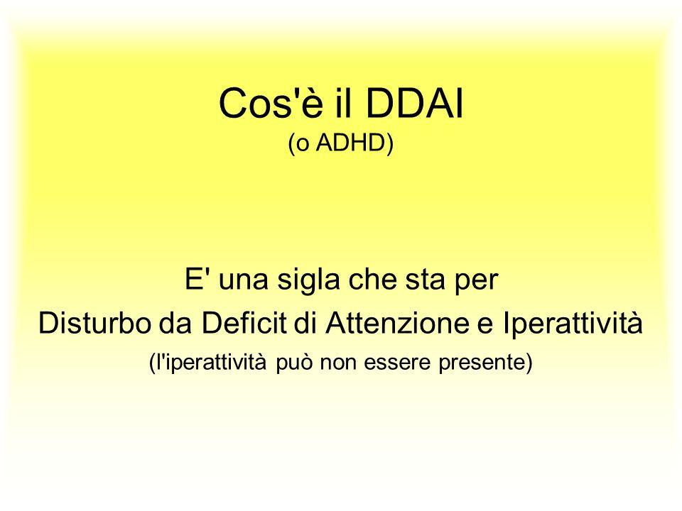 Cos è il DDAI (o ADHD) E una sigla che sta per