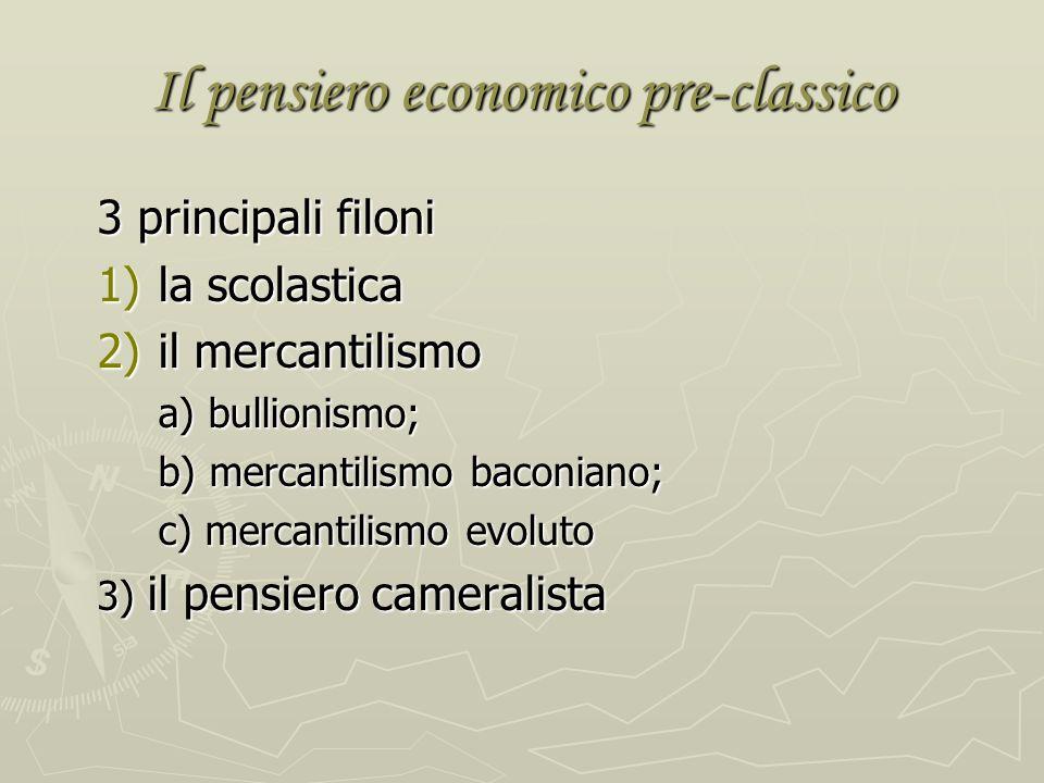 Il pensiero economico pre-classico
