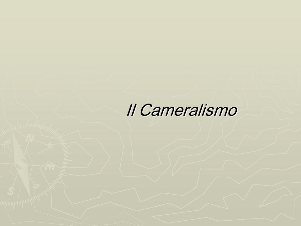Il Cameralismo