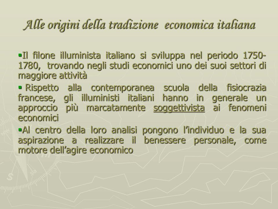 Alle origini della tradizione economica italiana
