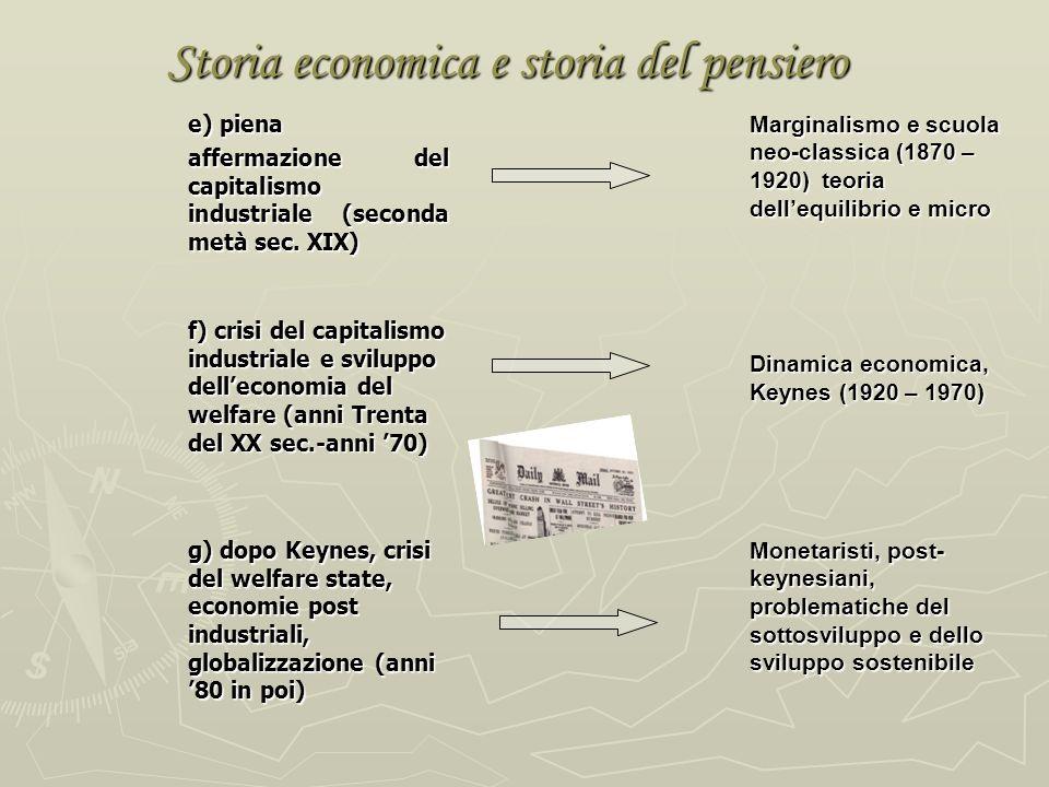 Storia economica e storia del pensiero