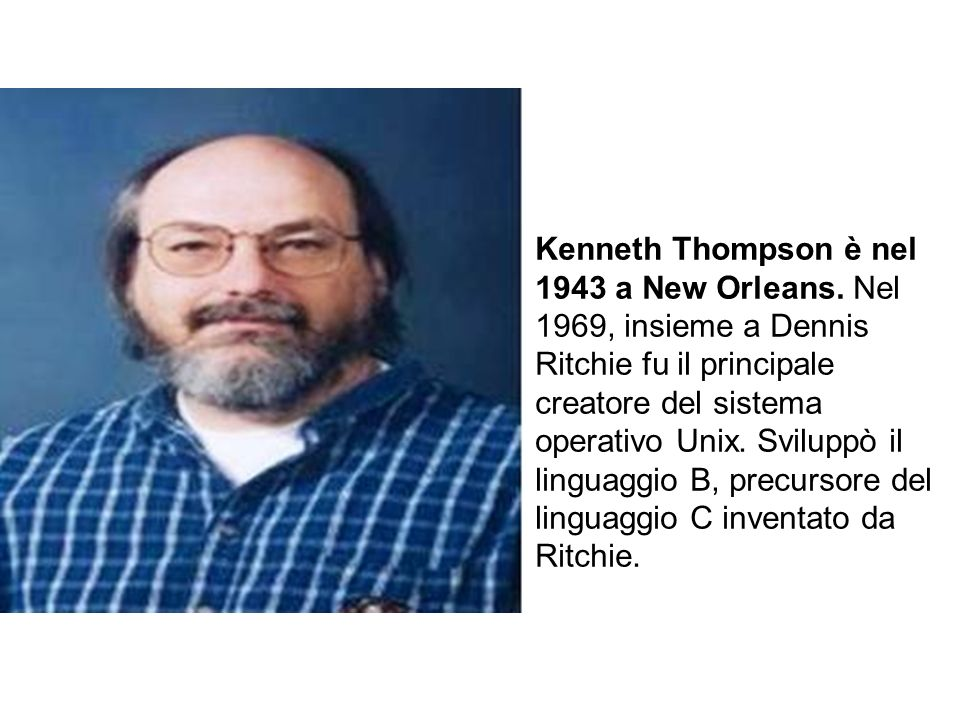 Kenneth Thompson è nel 1943 a New Orleans