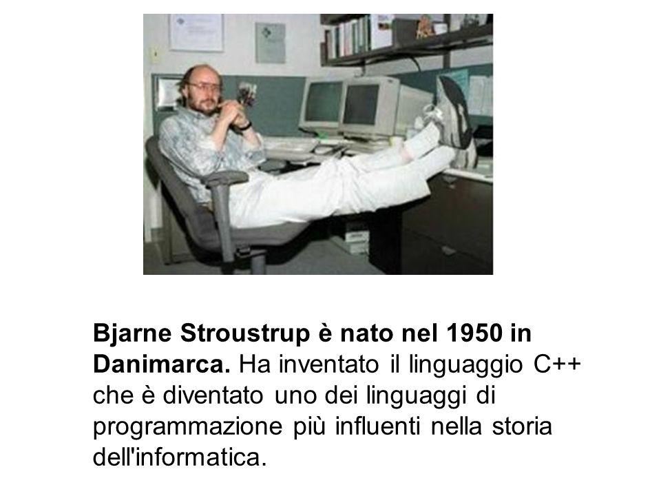 Bjarne Stroustrup è nato nel 1950 in Danimarca