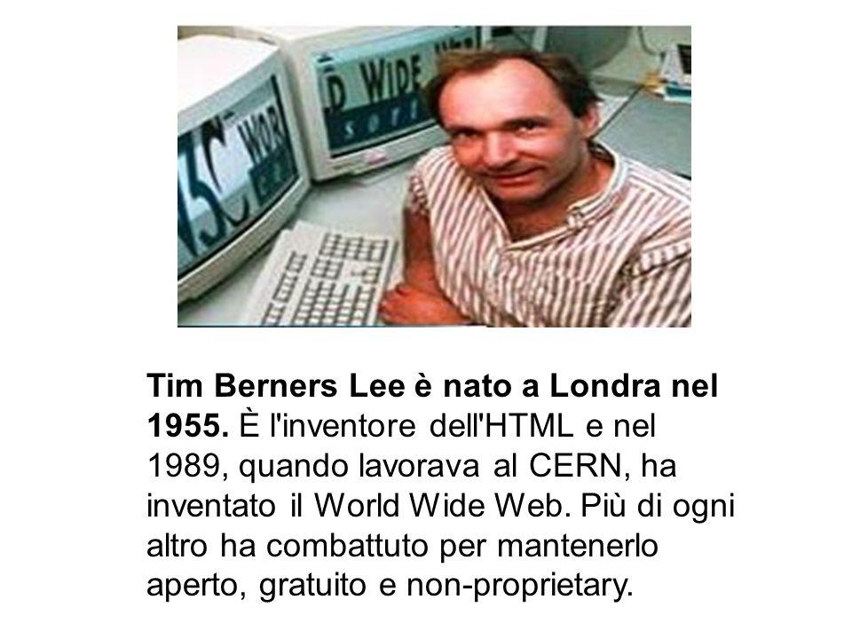 Tim Berners Lee è nato a Londra nel 1955