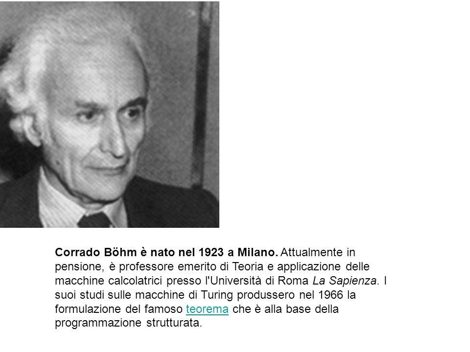 Corrado Böhm è nato nel 1923 a Milano