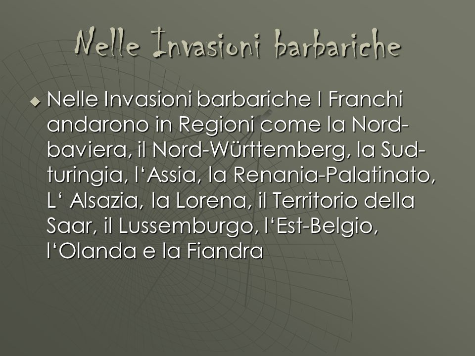 Nelle Invasioni barbariche