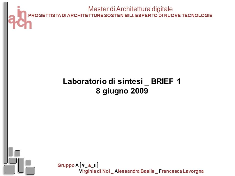 Laboratorio di sintesi _ BRIEF 1