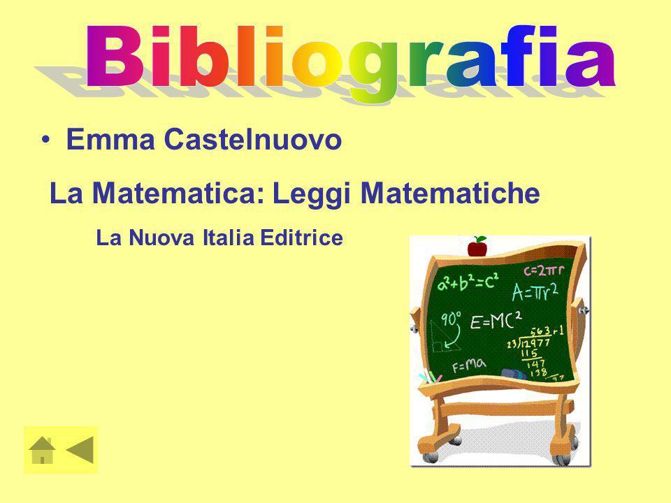 Bibliografia Emma Castelnuovo La Matematica: Leggi Matematiche