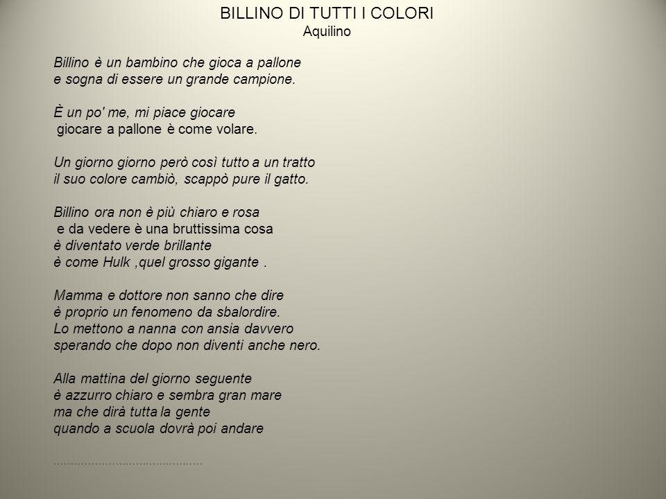 BILLINO DI TUTTI I COLORI