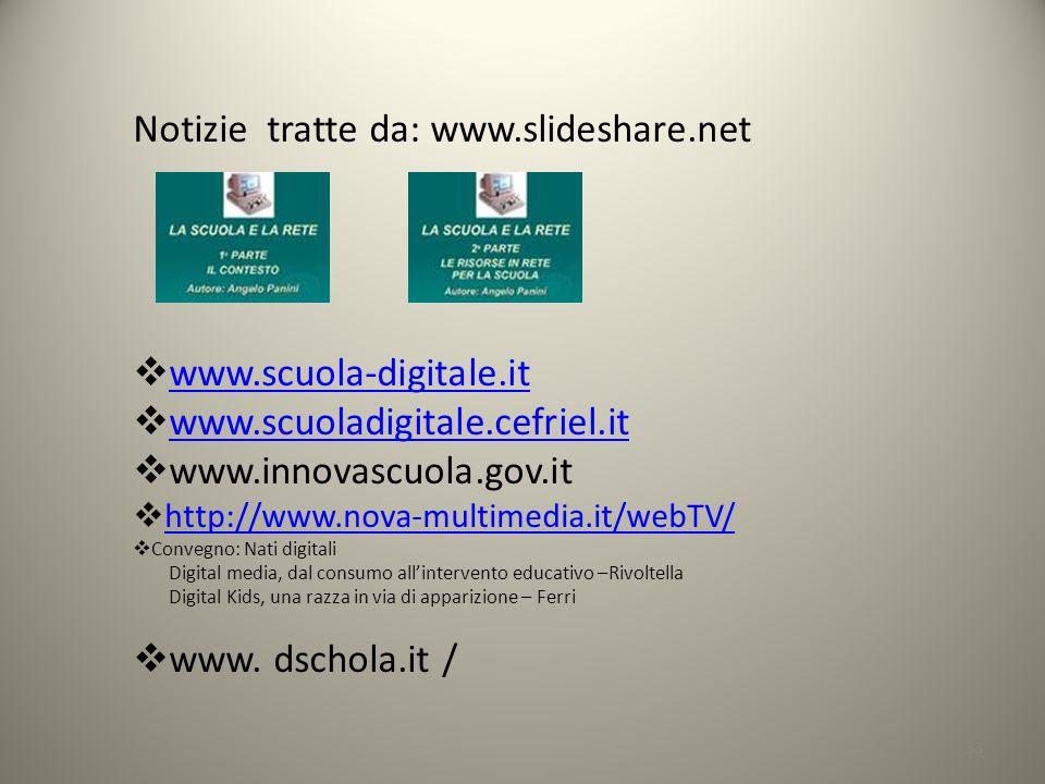 Notizie tratte da: www.slideshare.net