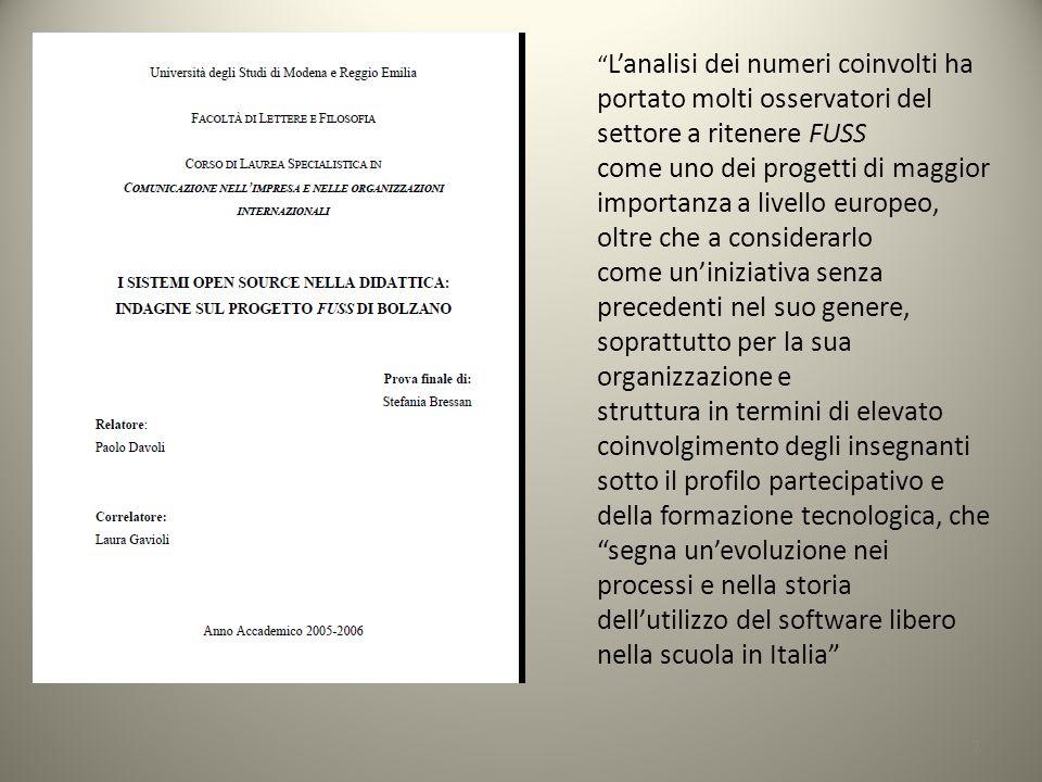 dell'utilizzo del software libero nella scuola in Italia