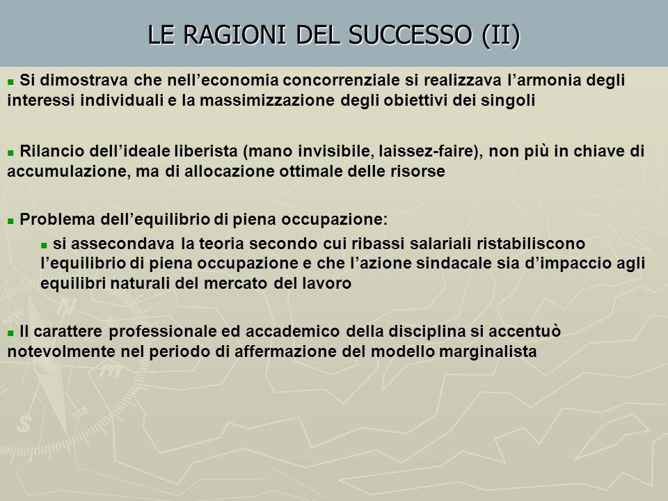 LE RAGIONI DEL SUCCESSO (II)