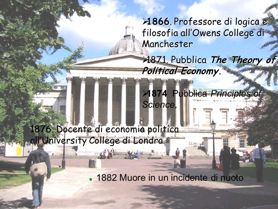 1866. Professore di logica e filosofia all'Owens College di Manchester