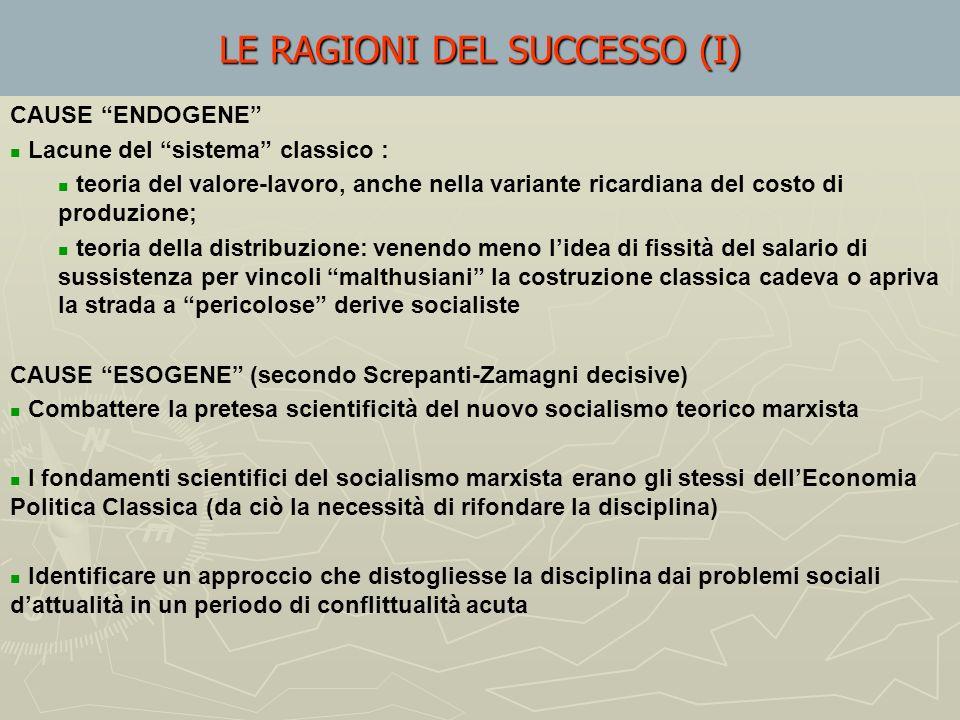 LE RAGIONI DEL SUCCESSO (I)