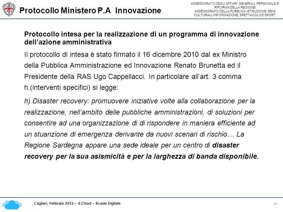 Protocollo Ministero P.A Innovazione