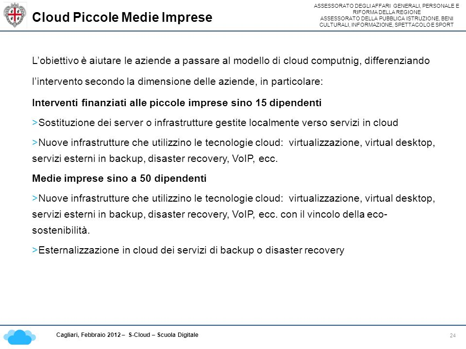 Cloud Piccole Medie Imprese