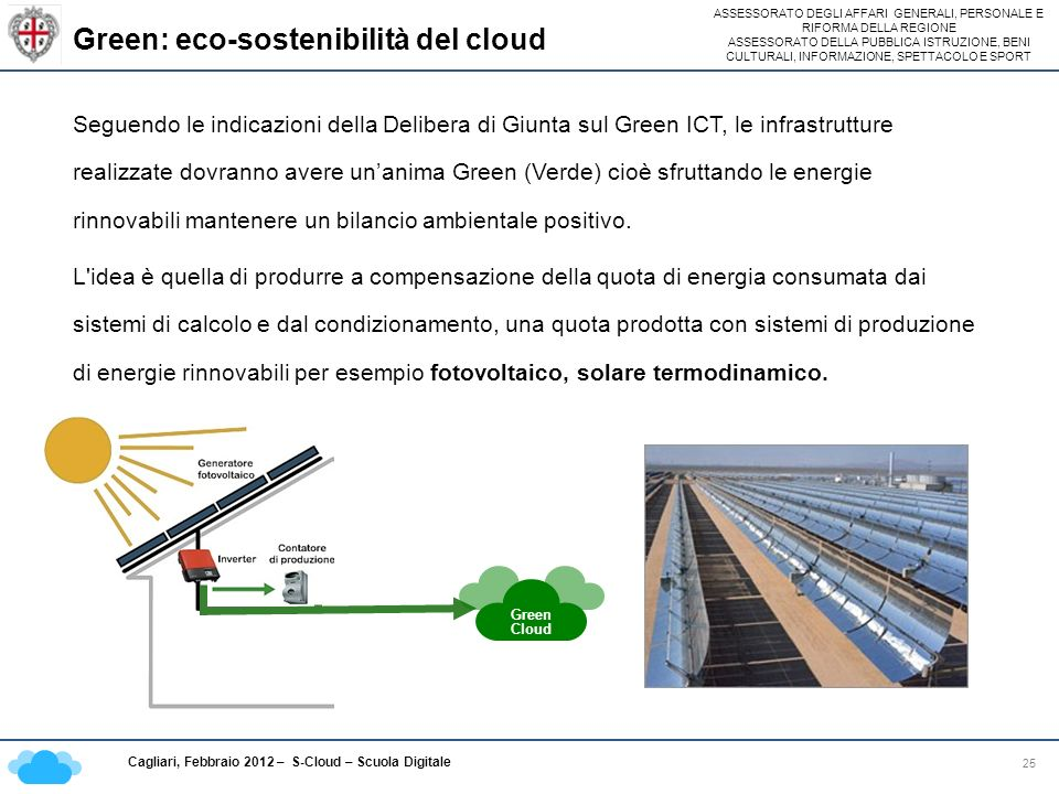 Green: eco-sostenibilità del cloud