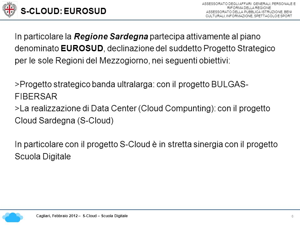 S-CLOUD: EUROSUD