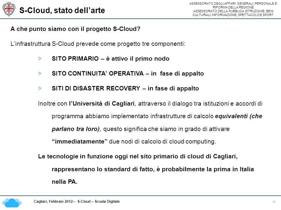 S-Cloud, stato dell'arte